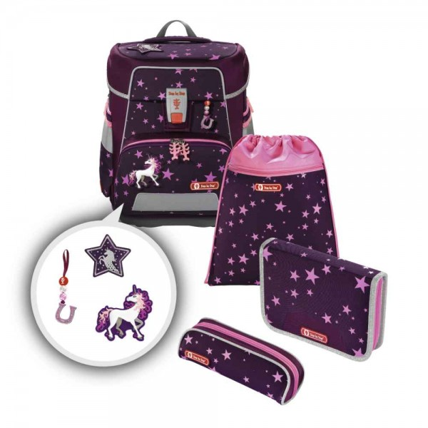Step by Step Space Schulranzenset 5tlg. Unicorn