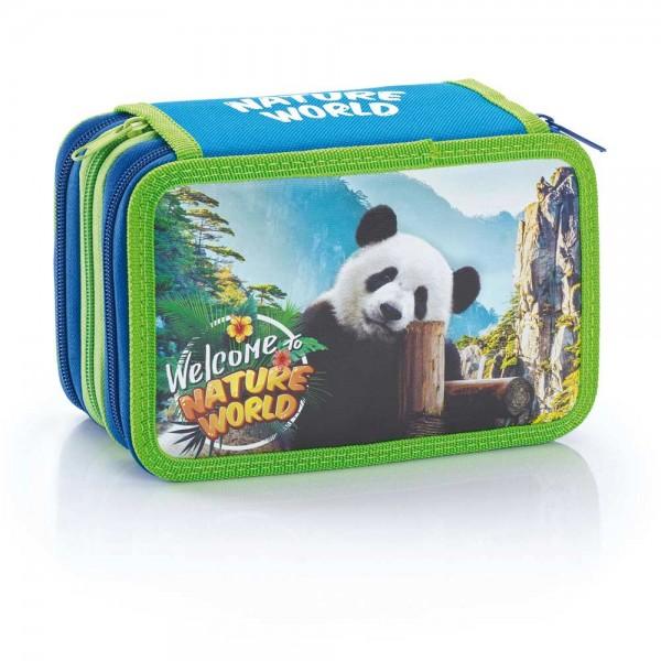 "3-fach Federmäppchen Federmappe ""Nature World"" Panda"