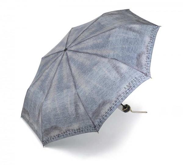 ESPRIT Regenschirm Taschenschirm Super Mini Jeans