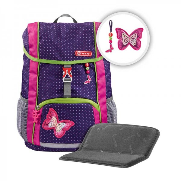 Step by Step KID Kindergartenrucksack-Set 3tlg. Shiny Butterfly