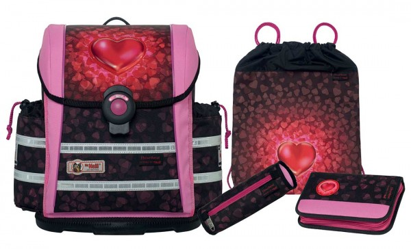 McNeill Schulranzen-Set 4tlg. ERGO Light 912 S Heartbeat