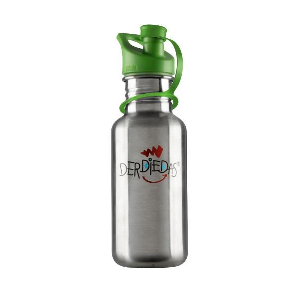 DerDieDas Trinkflasche Edelstahl, grün
