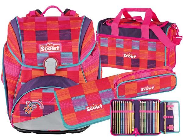 Scout Alpha Schulranzen-Set 4tlg. Pink Rainbow