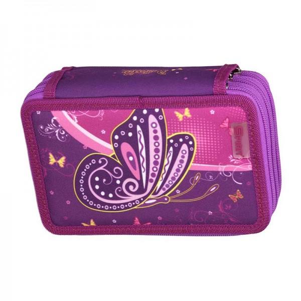 3-fach Federmäppchen Spirit Butterfly Purple