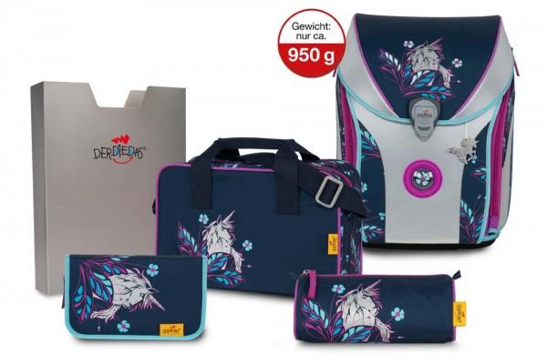 DerDieDas ErgoFlex MAX SuperFlash Schulranzen-Set 5tlg. Silver Shine
