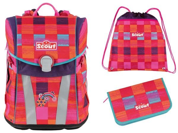 Scout Sunny Schulranzen-Set 3tlg. Pink Rainbow