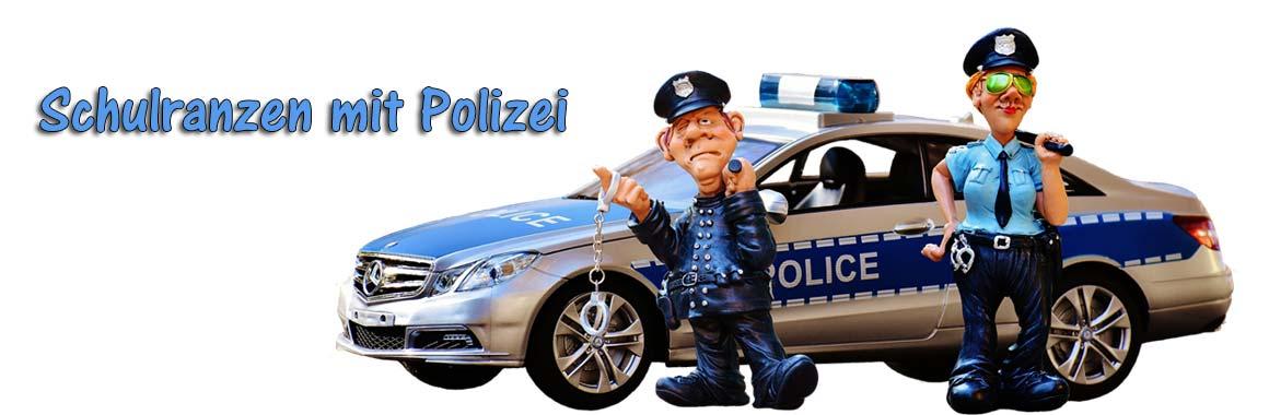 Schulranzen mit Polizei