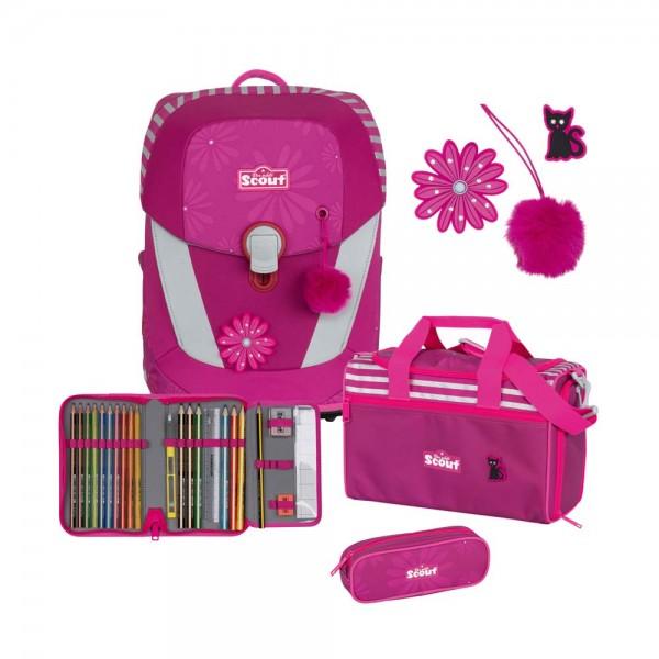 Scout Sunny II Schulranzen-Set 4tlg. Pretty Pink