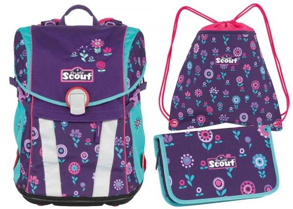 Scout Sunny Schulranzen-Set 3tlg. Blueberry