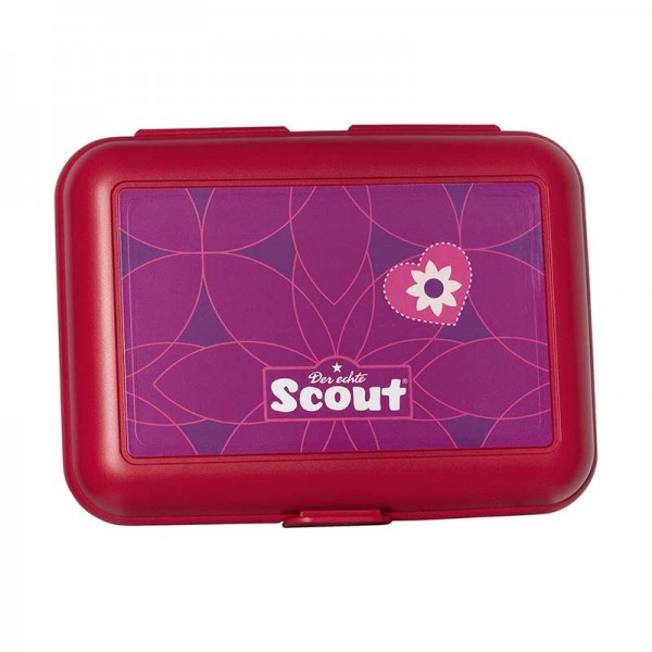 Scout Ess Box Brotdose Pink Flowers