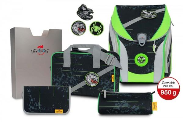 DerDieDas ErgoFlex MAX Buttons Schulranzen-Set 5tlg. Scorpio
